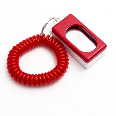 red clicker with red wrist coil