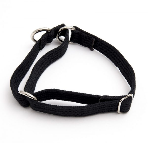 martingale collar - black spun poly